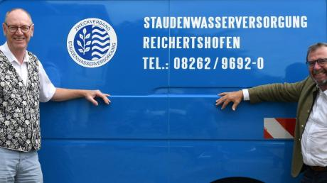 Josef Böck (links) und Robert Sturm stehen in den kommenden sechs Jahren an der Spitze des Zweckverbandes Stauden-Wasserversorgung, der 21 Städte, Märkte und Gemeinden mit Trinkwasser beliefert.