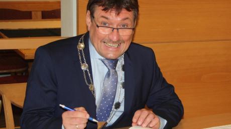 Der Hiltenfinger Bürgermeister Robert Irmler hatte in den ersten 100 Tagen viel zu tun.