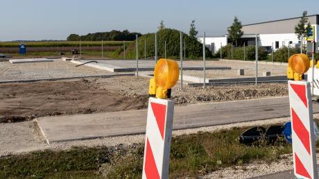 Der neue Wertstoffhof in Graben an der Lechfelder Straße nimmt Form an.