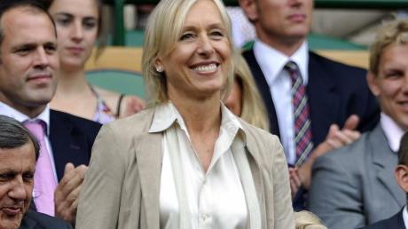 Die neunmalige Siegerin Martina Navratilova ist in Wimbledon ein gern gesehener Gast.