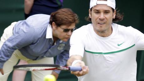 Auch für Tommy Haas war in Wimbledon in Runde eins Endstation.