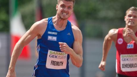Rico Freimuth sprintete die 100 Meter in 10,36 Sekunden.
