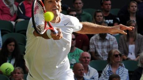 Tommy Haas spielte in Wimbledon ein starkes Turnier. Foto: Andy Rain