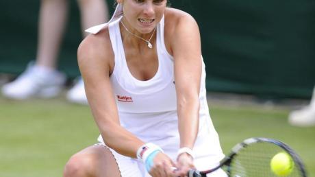 Julia Görges steht im Doppel schon im Viertelfinale von Wimbledon. Foto:Gerry Penny