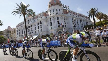 Das Team Orica-GreenEdge geht mit dem schnellsten Zeitfahren in die Geschichte der Tour de France ein. Foto: Sebastien Nogier