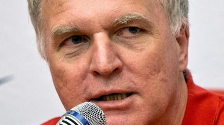 Clemens Prokop bei der DLV-Pressekonferenz in Moskau.