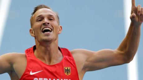 Zehnkämpfer Michael Schrader ist auf Medaillenkurs.
