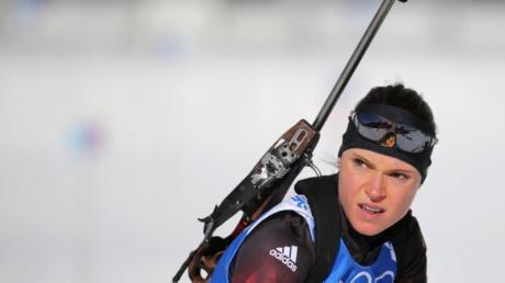 Evi Sachenbacher-Stehle war vom Langlauf zum Biathlon gewechselt.