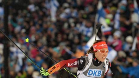 Laura Dahlmeier holte bei der WM in der Verfolgung Rang zwei.