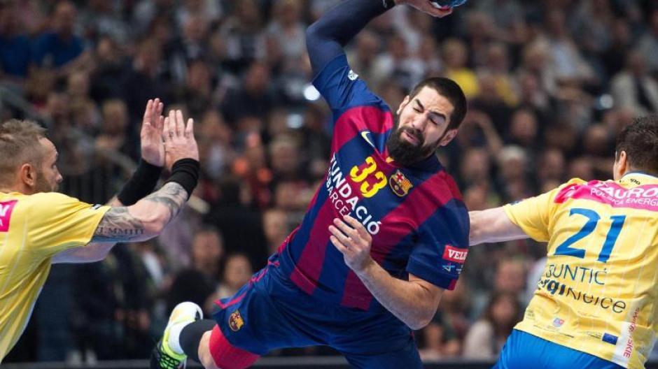 366f7d8a2ac Nikola Karabatic (M) erzielte acht Tore für den FC Barcelona gegen Vive  Tauron Kielce.