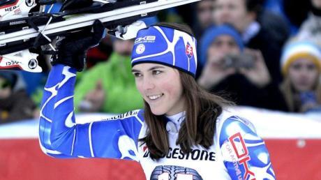 Die Slowakin Petra Vlhova macht auf sich aufmerksam.