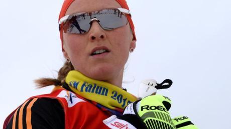 Denise Herrmann will Biathletin werden.