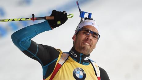 Martin Fourcade hat auch den Sprint der Biathleten in Nove Mesto gewonnen.