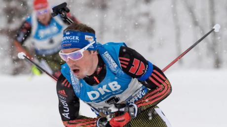 Simon Schempp lief in Antholz auf den fünften Platz. Foto: Sven Hoppe