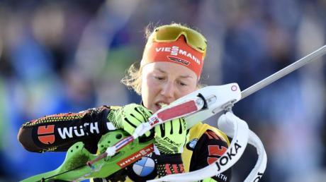 Laura Dahlmeier holt mit dem Sieg in der Verfolgung auch den Gesamtweltcup.