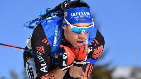 Simon Schempp holte sich im vorletzten Saisonrennen Rang elf. Foto: Martin Schutt