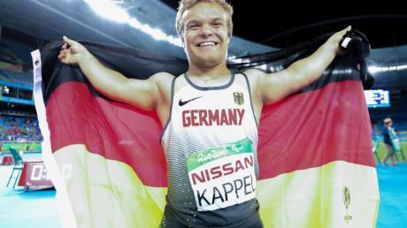 Niko Kappel holte bei den Paralympics in Rio de Janeiro Gold im Kugelstoßen. Foto: Kay Nietfeld