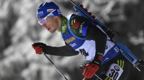 Simon Schempp wurde in Östersund im Einzel über 20 Kilometer nur Sechzehnter.