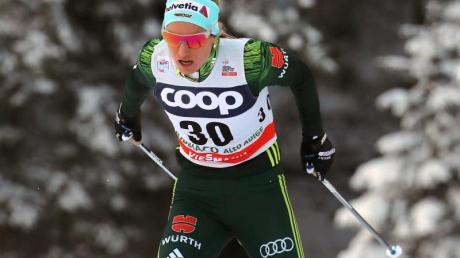 Kam beim Langlauf-Weltcup in Toblach im 10-Kilometer-Verfolgungsrennen im klassischen Stil auf Rang 14: Nicole Fessel. Foto: Luciano Solero