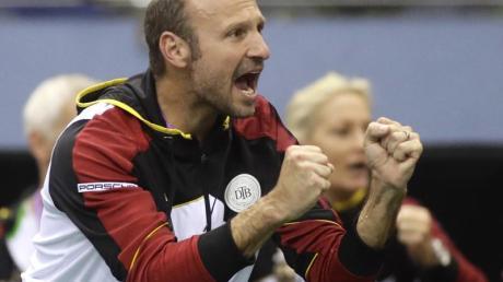Fed-Cup-Teamchef Jens Gerlach ist stolz auf seine Spielerinnen.