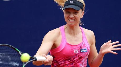 Tennisspielerin Mona Barthel hat beim WTA-Turnier in Stuttgart als erste deutsche Spielerin das Achtelfinale erreicht. Foto: D. Karmann/dpa