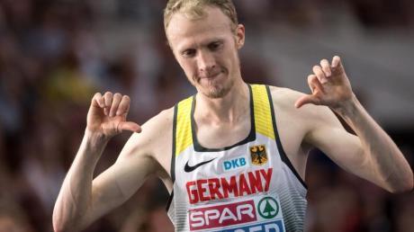 Richard Ringer ist neuer deutscher 10.000-Meter-Meister.
