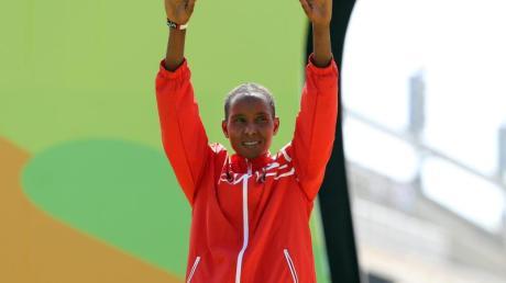 Eunice Jepkirui Kirwa wurde des Dopings mit EPO überführt. Foto: Diego Azubel