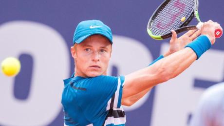 Der Oranienburger Tennisprofi Rudi Molleker verpasst wohl das Wimbledon-Turnier. Foto: Daniel Bockwoldt