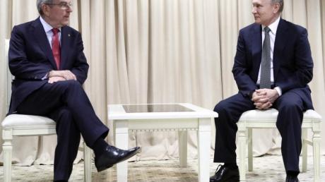 Thomas Bach traf Wladimir Putin in der weißrussischen Hauptstadt Minsk.