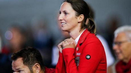 Springreiterin Simone Blum fieberte mit ihren Teamkollegen mit.