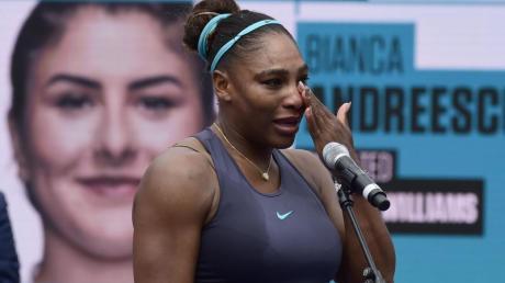 Serena Williams musste das Finale verletzungsbedingt aufgeben. Foto: Frank Gunn/The Canadian Press