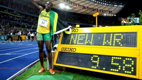Usain Bolt und seine Fabelzeit. Foto: Kay Nietfeld