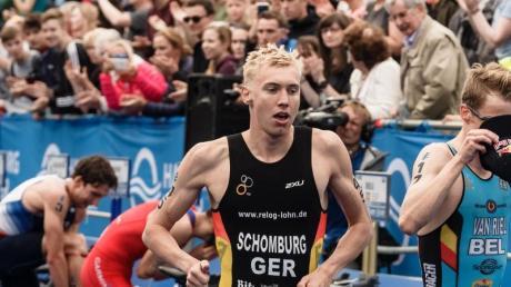 Triathlet Jonas Schomburg ist bei den Olympischen Spielen 2020 in Japan dabei. Foto: Markus Scholz