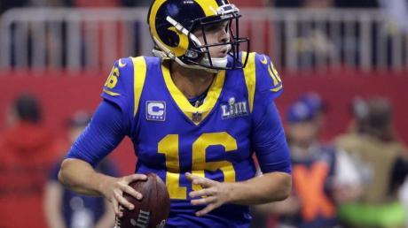 Die Los Angeles Rams können langfristig auf Quarterback Jared Goff setzen. Foto: Mark Humphrey/AP