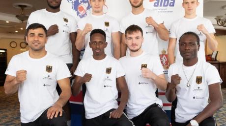 Die deutsche Box-Staffel bei der WM in Russland.