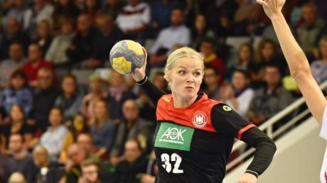 Evgenija Minevskaja holte gegen Kosovo sieben Treffer für die deutschen Frauen. Foto:Nicolas Armer