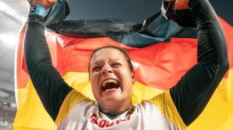 Christina Schwanitz holte Bronze bei der WM in Doha.