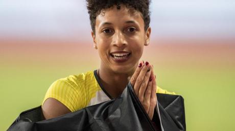 Malaika Mihambo sorgte für die zweite deutsche Goldmedaille bei den Titelkämpfen in Doha.