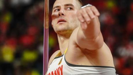 Johannes Vetters großes Ziel: Olympia-Gold im Speerwerfen. F. Foto: Michael Kappeler/dpa