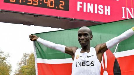 Lief in Wien als erster Mensch einen Marathon unter zwei Stunden: Eliud Kipchoge.