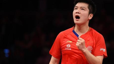 Hat die German Open gewonnen: Der Chinese Fan Zhendong jubelt.