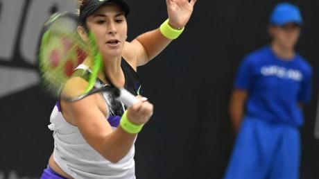 Die Schweizerin Belinda Bencic hat sich erstmals für die WTA Finals der besten acht Tennisspielerinnen qualifiziert. Foto: Barbara Gindl/APA/dpa