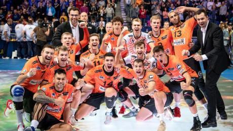 Erstmals Sieger des Volleyball-Supercups: Das Team der Berlin Volleys.