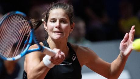 Gegen Gegnerin Ostapenko war sie am Ende chancenlos:Tennisspielerin Julia Görges.