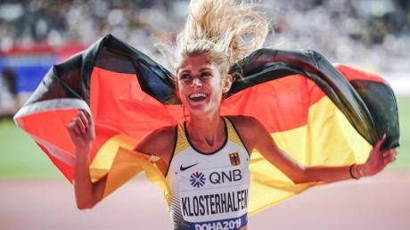 Konstanze Klosterhalfen hatte bei der WM in Doha Bronze über die 5000 Meter gewonnen. Foto: Michael Kappeler/dpa