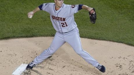 Houstons Pitcher Zack Greinke in Aktion. Foto: Pablo Martinez Monsivais/AP/dpa