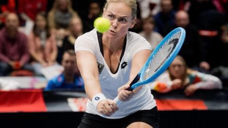 Kassierte in China im Doppel die erste Niederlage bei den WTA Final:Anna-Lena Grönefeld. Foto: Julian Stratenschulte/dpa