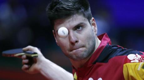 Die deutschen Tischtennis-Herren um Dimitrij Ovtcharov haben das Halbfinale beim Team World Cup in Tokio verpasst. Foto: Tibor Illyes/MTI/dpa/Archivbild