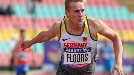 Stelzensprinter Johannes Floors holte bei der Para-WM auch Gold über 400 Meter.