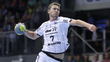 Der Kieler Magnus Landin erzielte neun Treffer. Foto: Ronny Hartmann/zb/dpa